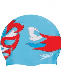 Speedo Printed Silicone Cap Blue Luchadore