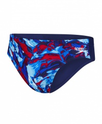 Speedo Allover 7cm Brief Navy/Blue