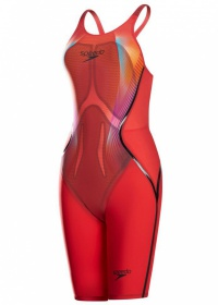 Speedo Fastskin LZR Racer X Closedback Kneeskin Red
