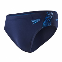 Speedo Boom Splice 7cm Brief Navy/Blue