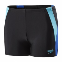 Speedo Colour Block Aquashort Black/Blue/Turquoise