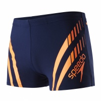 Speedo Sport Panel Aquashort Navy/Fluo Orange