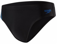 Speedo Placement 7 cm Brief Black/Grey
