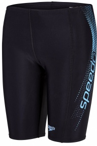Speedo Sports Logo Panel Jammer Boy Black/Powder Blue
