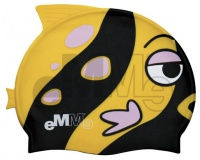 Children's swimming cap Emme black-yellow fish