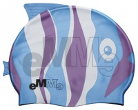 Children's swimming cap Emme blue-purple fish