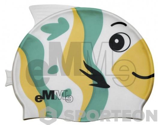 Children's swimming cap Emme green-yellow fish