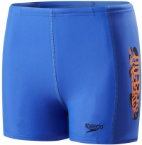 Speedo Electric Spritz Placement Panel Aquashort Boy Amparo Blue/Navy/Fluo Orange