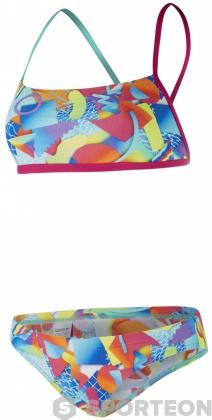 Speedo Spectrum Splash 2 Piece Crossback Electric Pink/Spearmint/Fluo Orange
