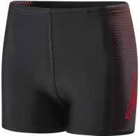 Speedo Gala Logo Panel Aquashort Boy Black/Risk Red