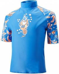 Speedo Solarpop Essential Suntop Kid Neon Blue/Fluo Orange/White