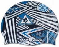 Swim cap Mad Wave Stripes Silicone