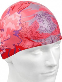 Mad Wave Pink Flower Swim Cap
