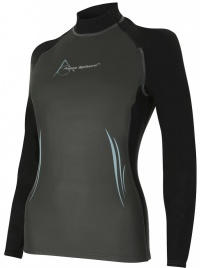 Aqua Sphere Aqua Skin Top Long Sleeve Lady Grey/Black