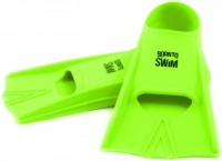 BornToSwim Green silicone swimming fins