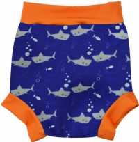 Splash About Happy Nappy Shark Orange