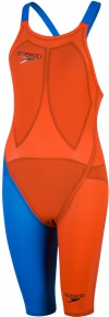 Speedo Fastskin LZR Racer Elite 2 Closedback Kneeskin Hot Orange/Bondi Blue
