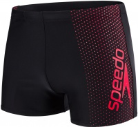 Speedo Gala Logo Aquashort Black/Lava Red
