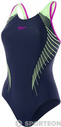 Speedo Fit Laneback Navy/Bright Zest/Neon Orchid