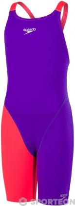 Speedo Fastskin Endurance+ Openback Kneeskin Girl Royal Purple/Psycho Red