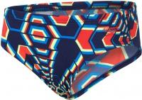Speedo Allover 6.5cm Brief Boy Navy/Pure Orange/Bright Zest
