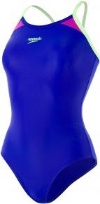 Speedo Thinstrap Racerback Chroma Blue/Bright Zest/Neon Orchid