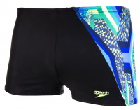 Speedo Digital Panel Aquashort Boy Black/Bright Zest/Venom