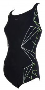 Arena Penelope Wing Back One Piece C-Cup Black/White