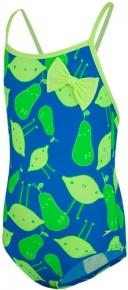 Speedo Bow Swimsuit Girl Brilliant Blue/Bright Zest/Fluo Green