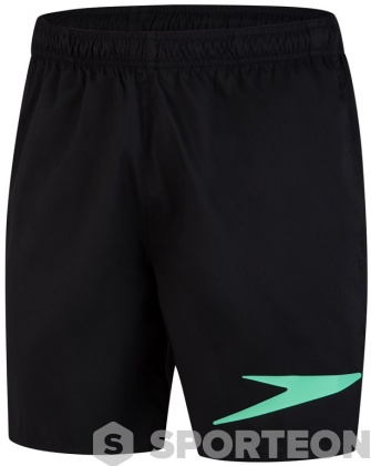 Speedo Sport Logo 16 Watershort Black/Green Glow