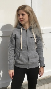 Swimaholic Zip Through Hood Women Heater Grey Melange