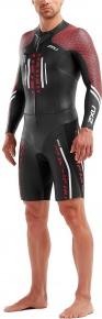 2XU Pro-Swim Run Pro Wetsuit Black/Flame Scarlet