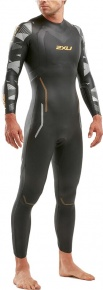 2XU P:2 Propel Wetsuit Black/Orange Fizz