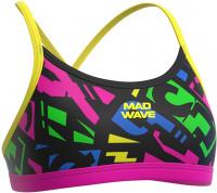 Mad Wave Frisky J3 Antichlor Top Black/Multi