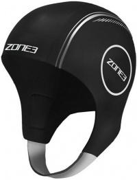 Zone3 Neoprene Swim Cap Black/Silver