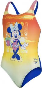 Speedo Disney Minnie Mouse Medalist Girl Sunset Orange/Sapphire Blue