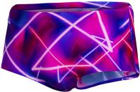 Speedo 17cm Club Training Allover Brief Ultraviolet/Punchy Pink/Neon Fire